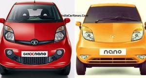 Old vs New Tata Nano GenX Front