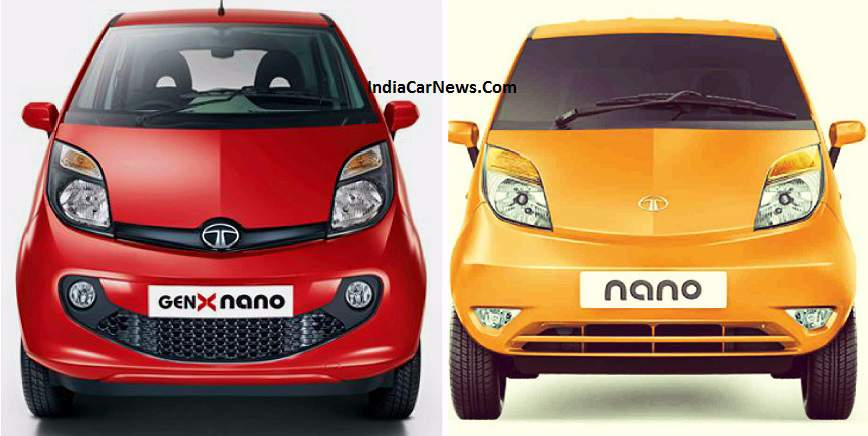 Tata Genx Nano: Old Vs New Tata Nano GenX 2015