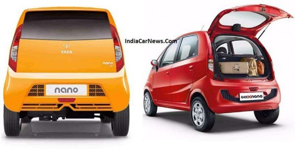 Old vs New Tata Nano GenX Rear