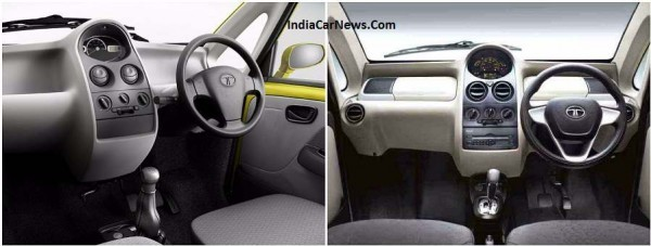 Old vs New Tata Nano GenX interior