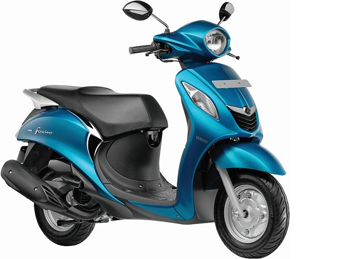 Yamaha Fascino Scooter Cyan Colour Picture