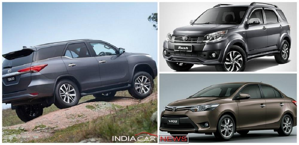 here s a list of up ing new toyota cars in india that the japanese