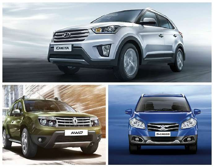 Hyundai Creta vs Maruti S Cross vs Renault Duster