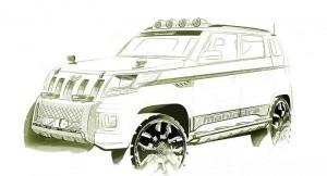 Mahindra TUV300 front
