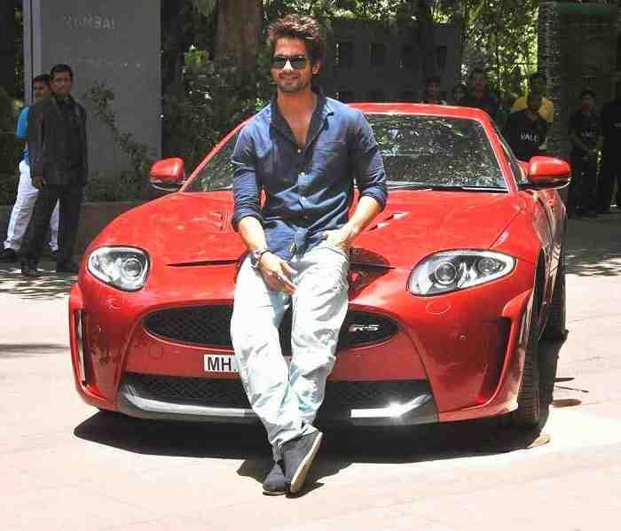 photo of Shahid Kapoor BMW i8 - car
