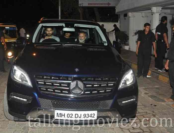 Shahid Kapoor with his Mercedes Benz ML Class SUV