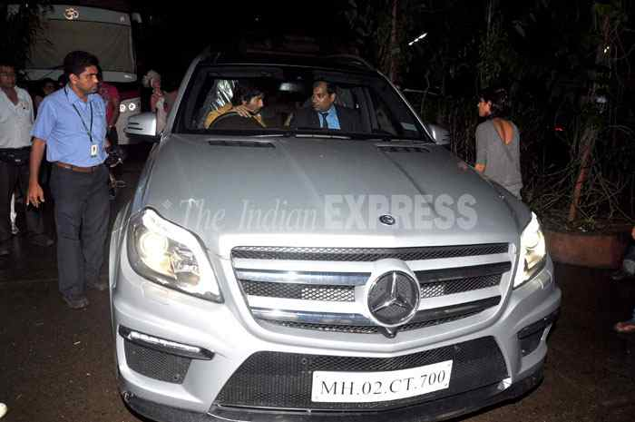 Shahid Kapoor with his Mercedes Benz GL Class SUV Car