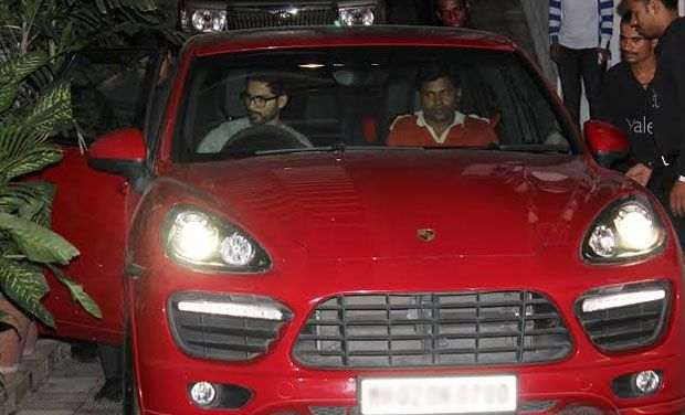 Shahid Kapoor with his Porsche Cayene Car