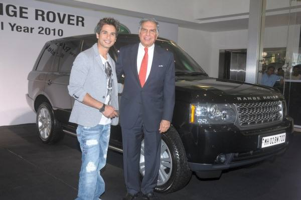 Shahid Kapoor with Range Rover Vogue and Ratan Tata