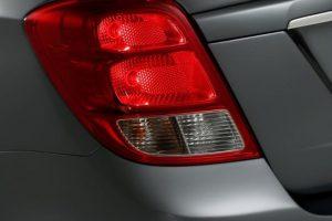 Chevrolet Essentia India taillight