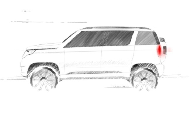 Mahindra TUV300 sketch image