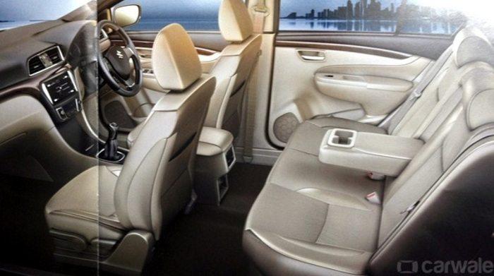 maruti suzuki ciaz hybrid interior india car news. Black Bedroom Furniture Sets. Home Design Ideas