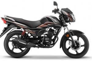 New TVS Victor black and red