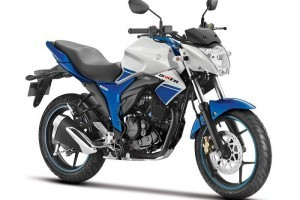 Suzuki Gixxer White and Blue color