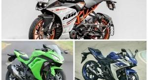 Yamaha R3 Vs Kawasaki Ninja 300 Vs KTM RC390