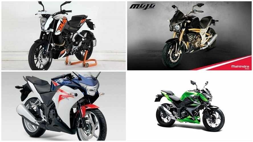 Mahindra Mojo Vs Duke 200 Vs CBR250R Vs Kawasaki Z250