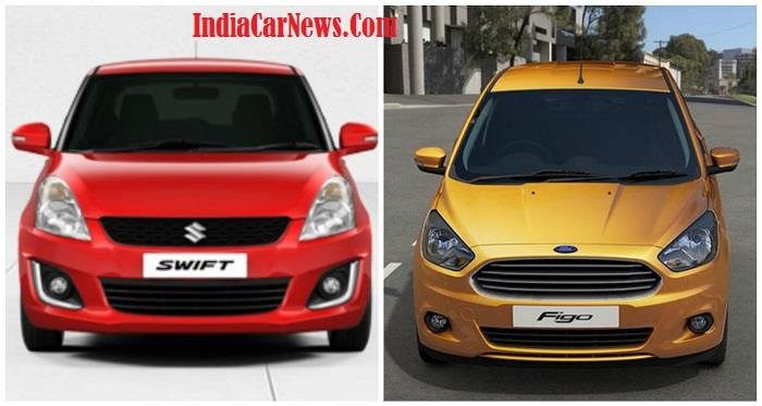New Ford Figo vs New Maruti Swift