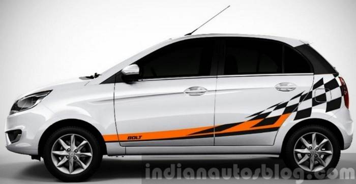 Tata Bolt Celebration Edition side profile