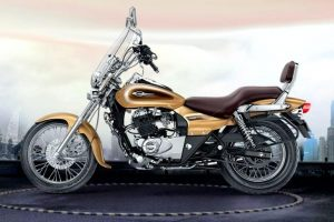 Bajaj Avenger Cruise 220 Desert Gold Edition side view