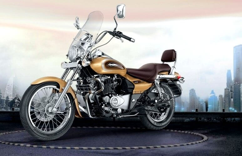 Bajaj Avenger Cruise 220 Desert Gold Edition front side