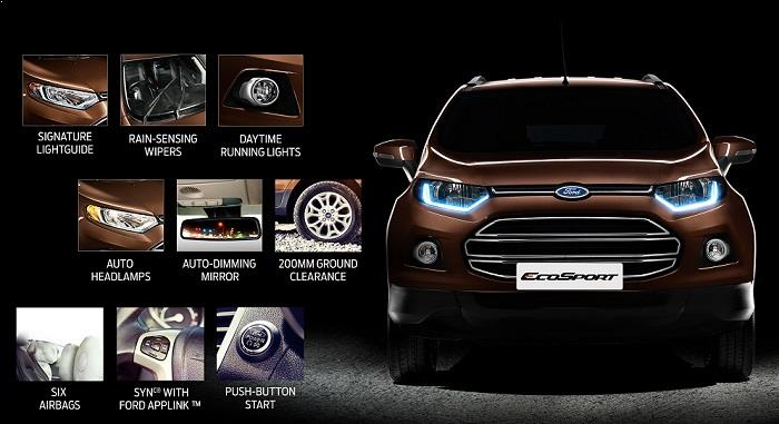 New Ford EcoSport 2016 features