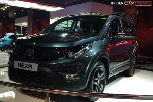 Tata Hexa front three quarter