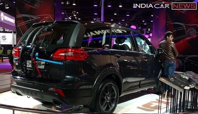 Tata Hexa rear side