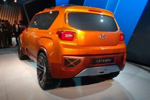 Hyundai Carlino compact SUV rear profile