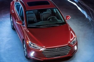 New Hyundai Elantra 2016 top view