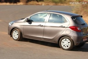 Tata Tiago rear-side profile
