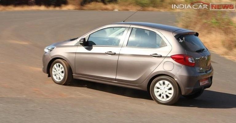 Tata Tiago rear-side profile