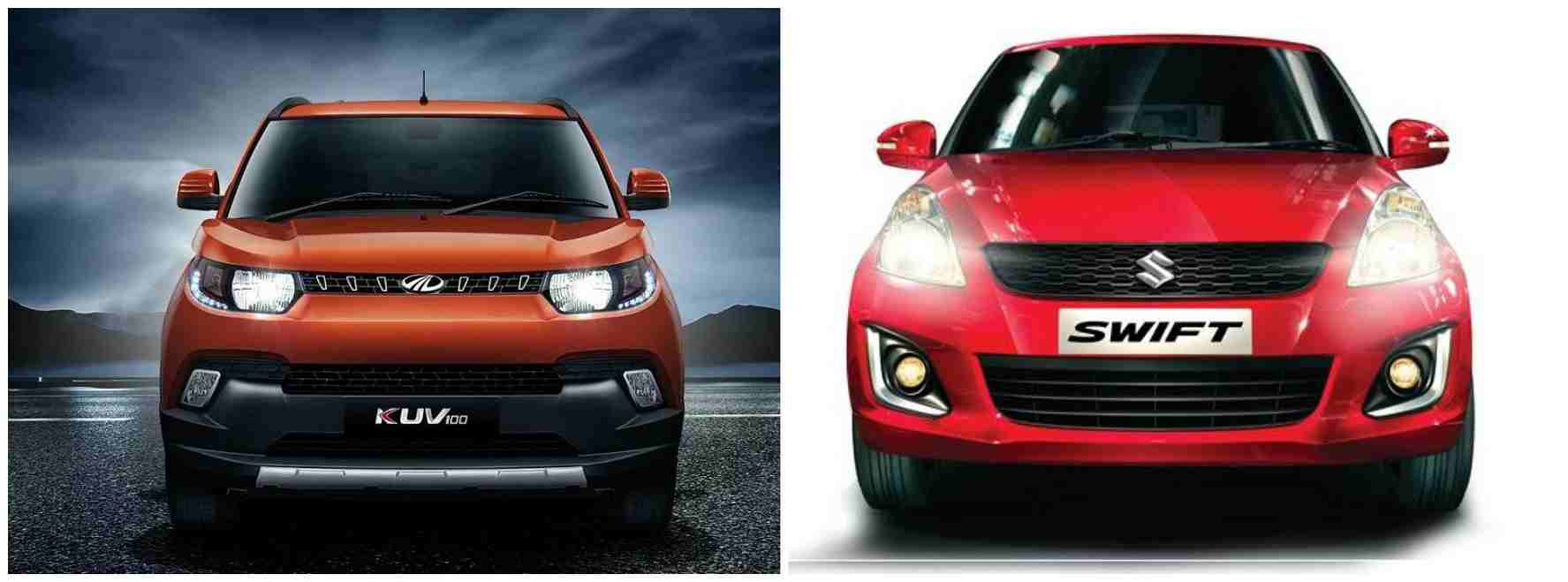 Mahindra KUV100 Vs Maruti Swift Specs Comparison