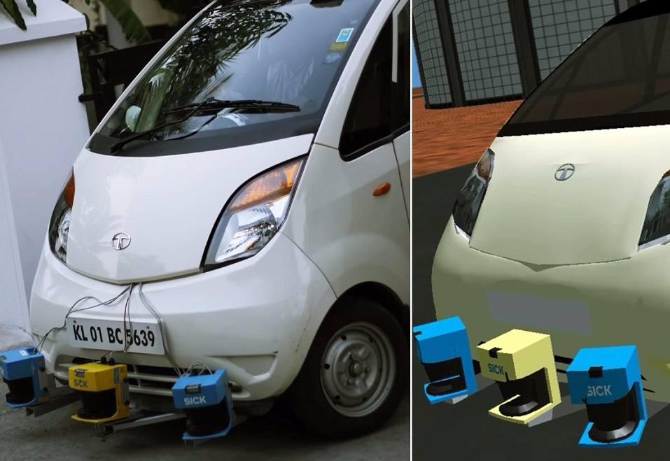 Driverless Tata Nano India