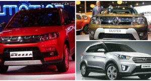 Maruti Vitara Brezza Vs Renault Duster Vs Hyundai Creta