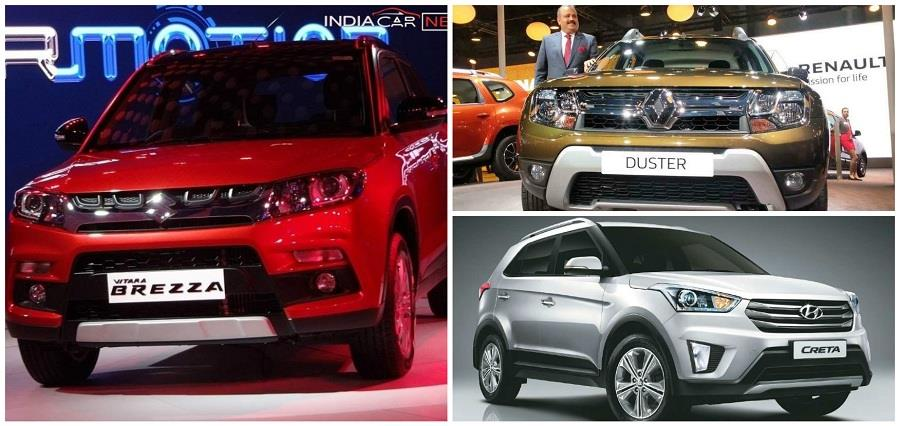 maruti vitara brezza vs renault duster vs hyundai creta comparison. Black Bedroom Furniture Sets. Home Design Ideas
