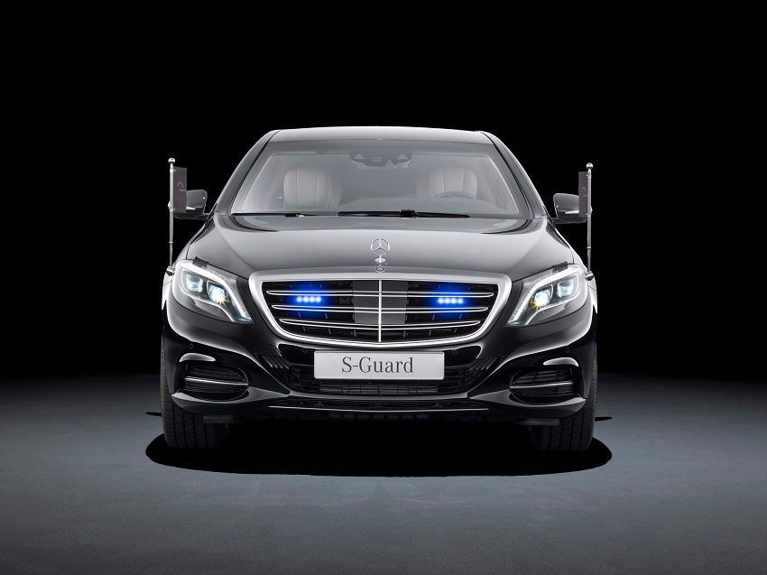 Mercedes S600 Guard Front View