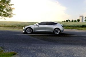 Tesla Model 3 India side view