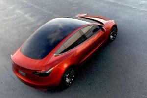 Tesla Model 3 India roof