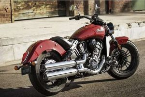2016 Indian Scout Sixty India in red