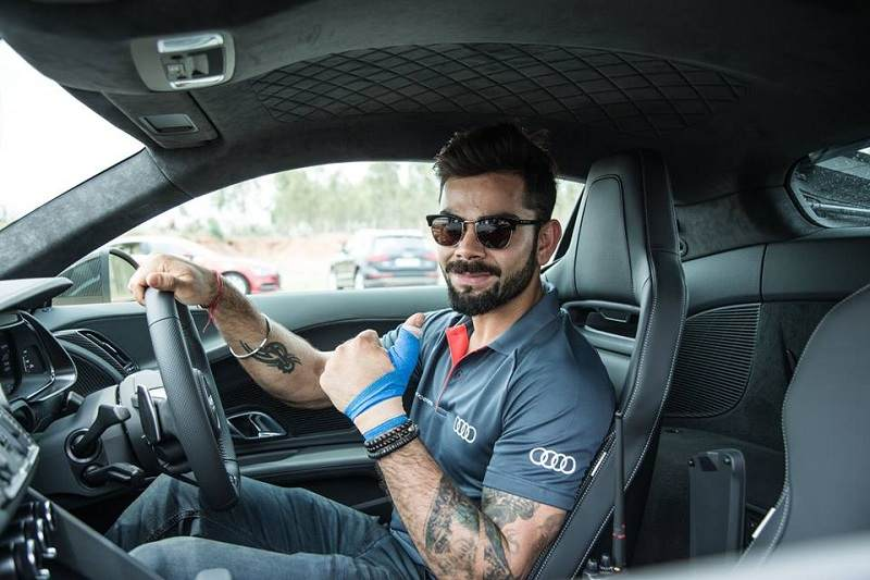 Audi R8 V10 Plus with Virat Kohli