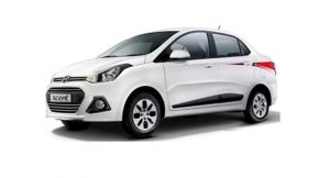 Hyundai Xcent 20th anniversary edition side profile