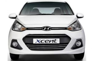 Hyundai Xcent Anniversay Edition front