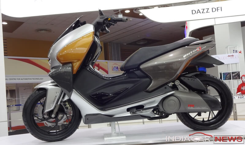 TVS EnTorq 125cc side view