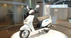 TVS IQube Hybrid Scooter side profile