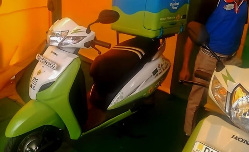 CNG scooters in Delhi