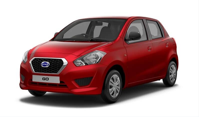 Datsun GO 1000cc petrol in red