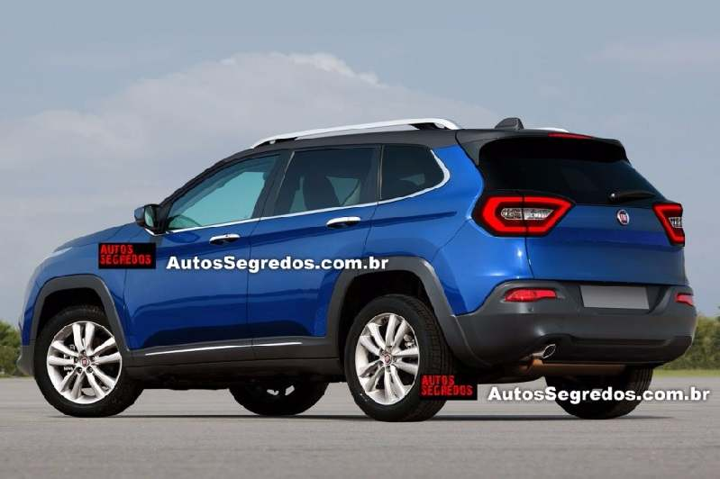 Fiat Toro SUV rear-side profile