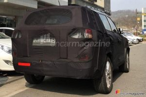 Mahindra SsangYong Rexton 2017 spied rear