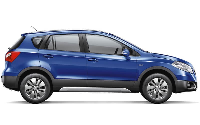 Maruti S Cross petrol side profile
