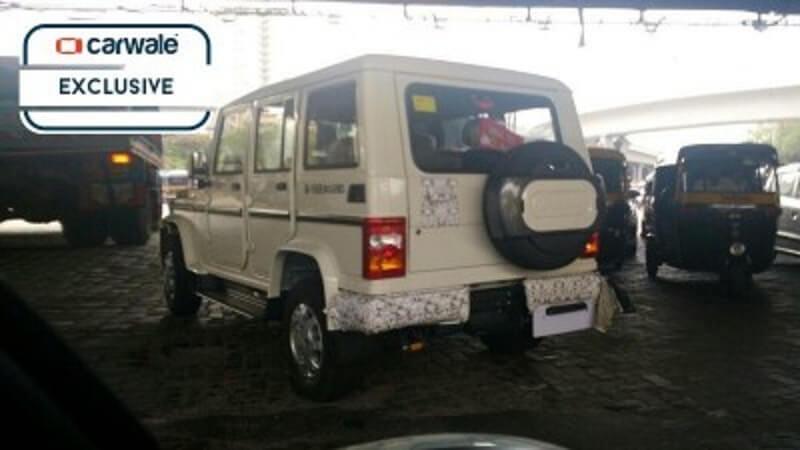 New Mahindra Bolero 2016 spied rear